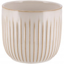 Keramik Kübel Susi, D13,5cm, H13cm, für TO12, weiß